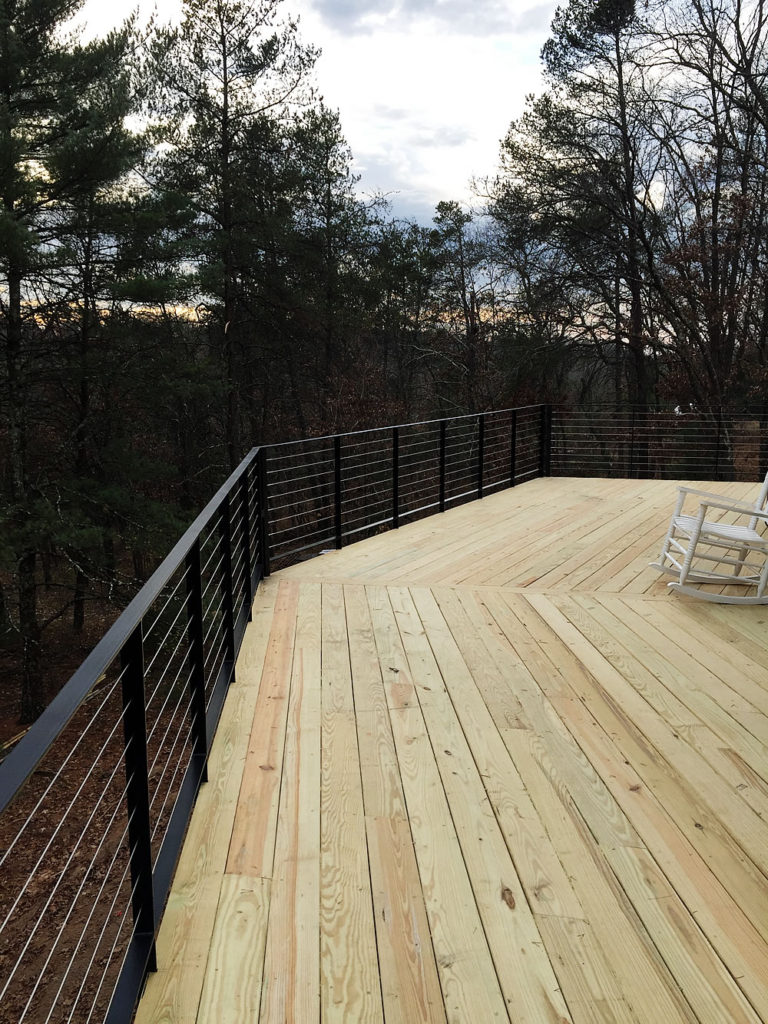 custom deck railing